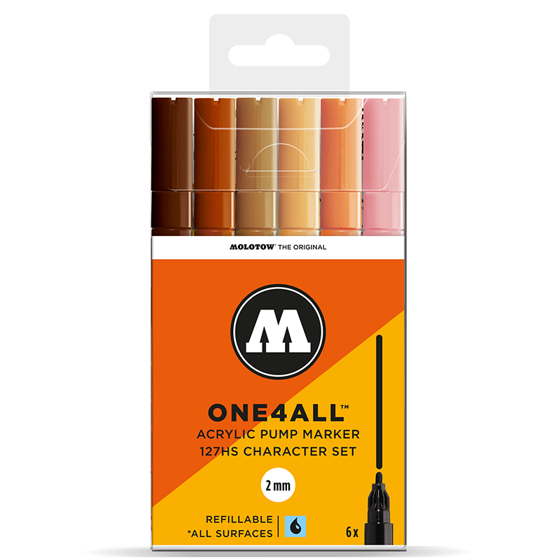 Marker Molotow Acrylic Character Set ONE4ALL 2mm 127