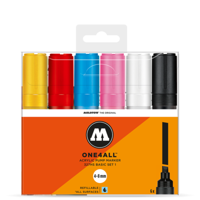 Marker Molotow Acrylic Basic Set 1 ONE4ALL 4-8mm
