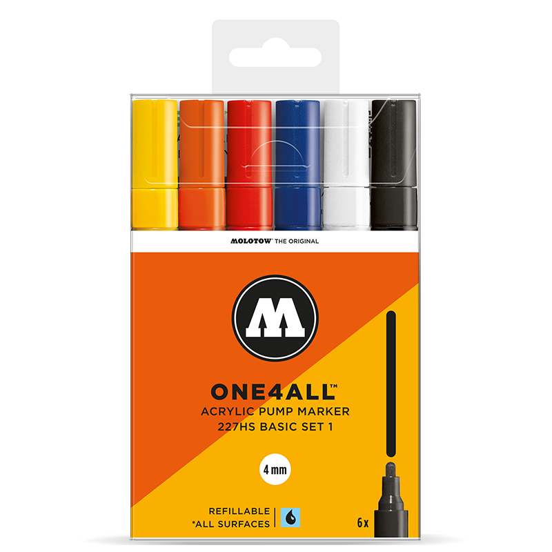 Marker Molotow Acrylic Basic Set 1 ONE4ALL 4mm
