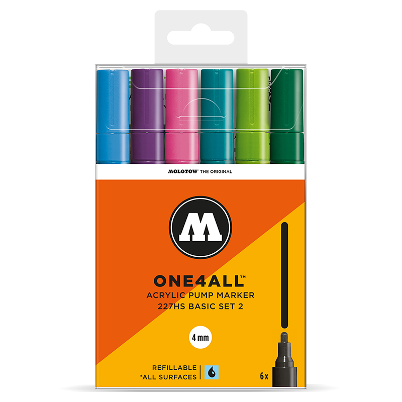 Marker Molotow Acrylic Basic Set 2 ONE4ALL 4mm