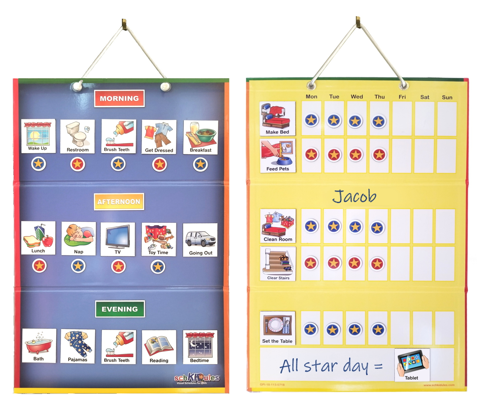 2-Sided Magnetic Kids Calendar Board