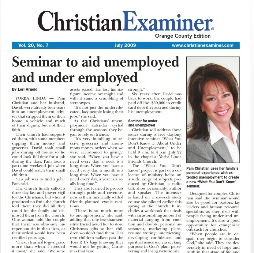 2009 Christian Examiner Article
