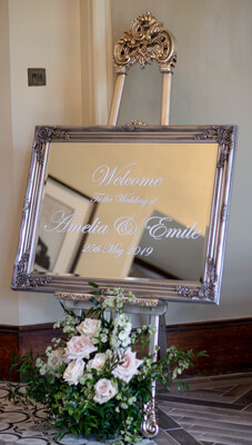 Personalised Welcome Sign And Antique Style Easel