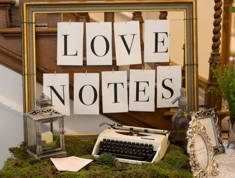 Love Notes 'guest book' alternative