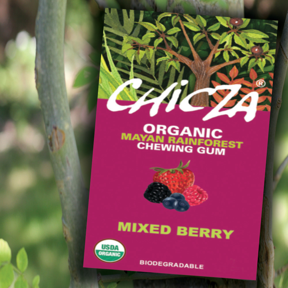 Chicza The Organic Rainforest Chewing Gum Mixed Berry