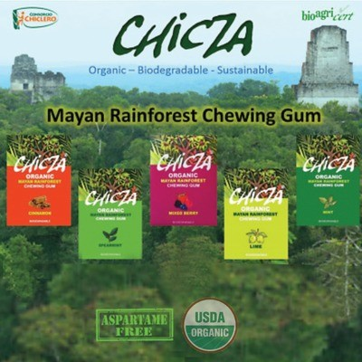 Chicza Organic Rainforest Gum Sample Mix 5 x 30g packets