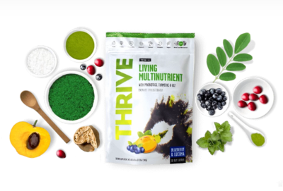 Thrive: Living Multinutrient - 112g / 14 Servings / Blueberry & Lucuma