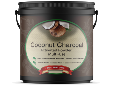 Ultra Fine - Activated Coconut Charcoal Powder - Food & Cosmetic grade 500g