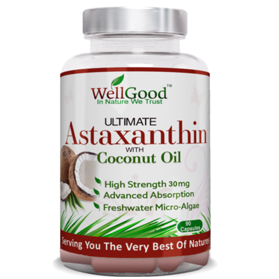 Ultimate 30mg Astaxanthin with Virgin Coconut Oil  - Nature's Best Antioxidant
