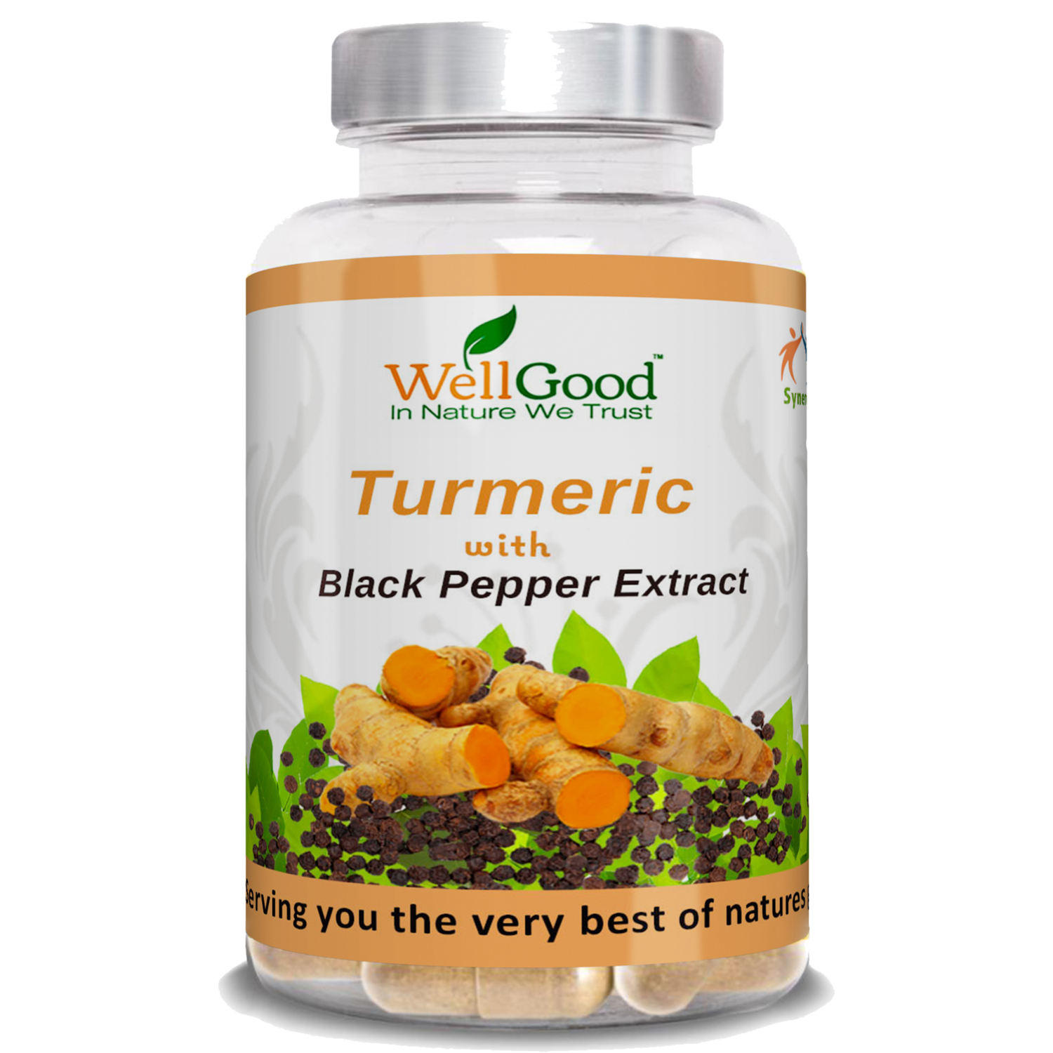 Organic Turmeric (curcumin) with black pepper extract (Piperine) Bioperine