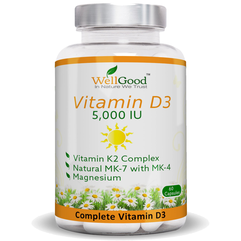 Our Popular - Vitamin D3 5000 IU with Vitamin K2 Complex - Immune & Bones Support