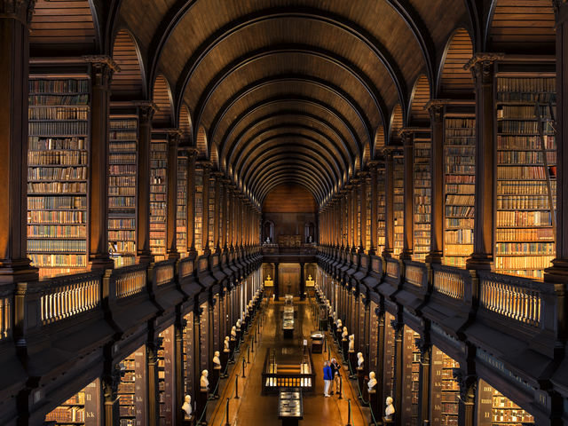 The Library in  Trinity College, Dublin