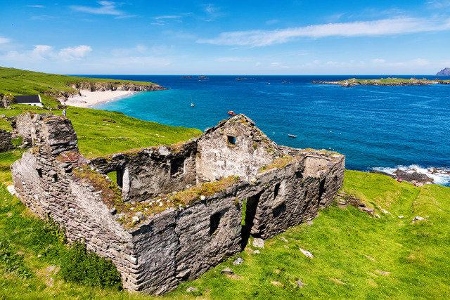 Ruin on The Blasket Island, West Kerry