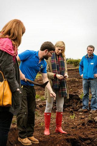 Cutting Turf in Ireland