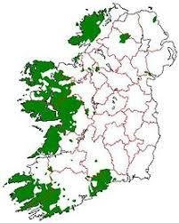 Gaelic speaking areas of Ireland