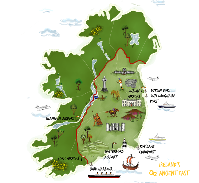 """""""Ireland's Ancient East"""" 8 Day, 4 Star Self-Drive Tour - FROM $1,395.00"""