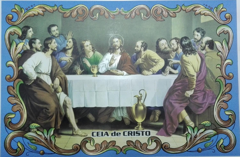 Painel Ceia de Cristo c/ cercadura rectangular