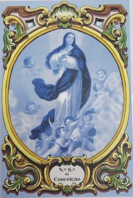 Painel N.ª S.ª Conceição azul c/ cercadura a cores