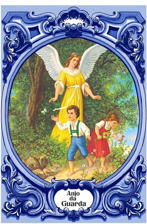 Painel Anjo da Guarda A c/ cercadura oval