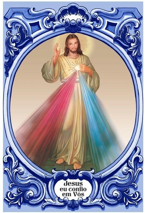 Painel Jesus eu confio em Vós c/ cercadura oval