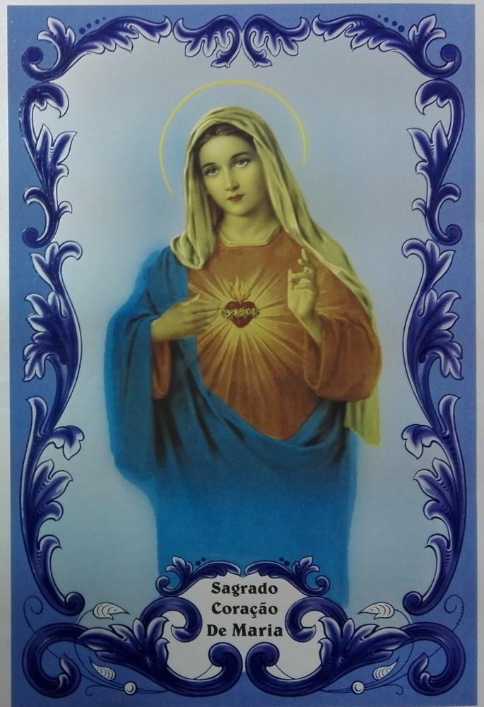 Painel Sagrado Coração de Maria c/ cercadura rectangular