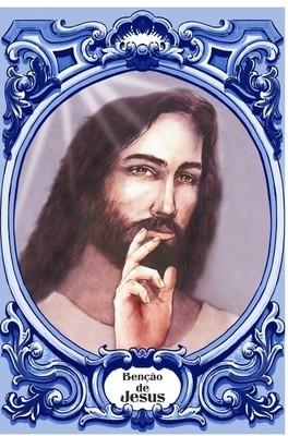 Painel Benção de Jesus c/ cercadura oval