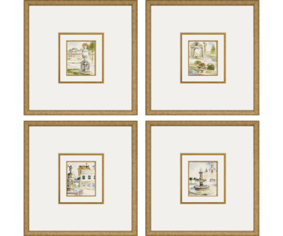 Fountains / Set of 4 | Giclée