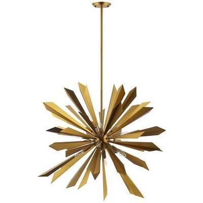 Starburst Brass Pendant Chandelier