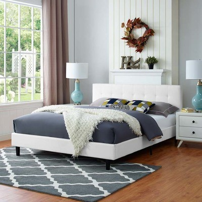 Lissa Fabric Queen Bed | 6 Colors