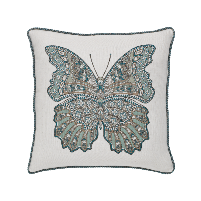 "Elaine Smith Mariposa Lagoon 20"" x 20"" Indoor/Outdoor Pillow"