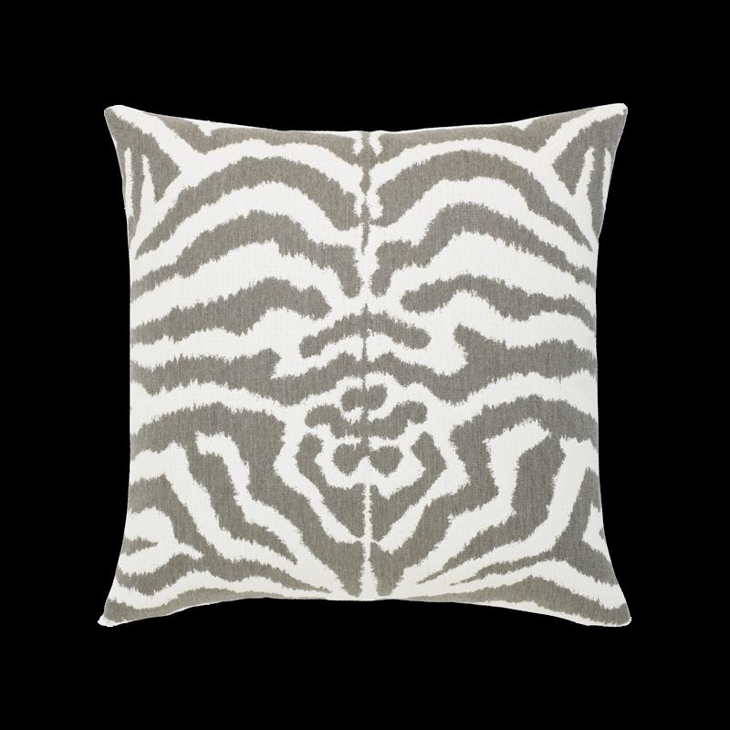 """Elaine Smith Zebra Gray 20"""" x 20"""" Indoor/Outdoor Pillow"""