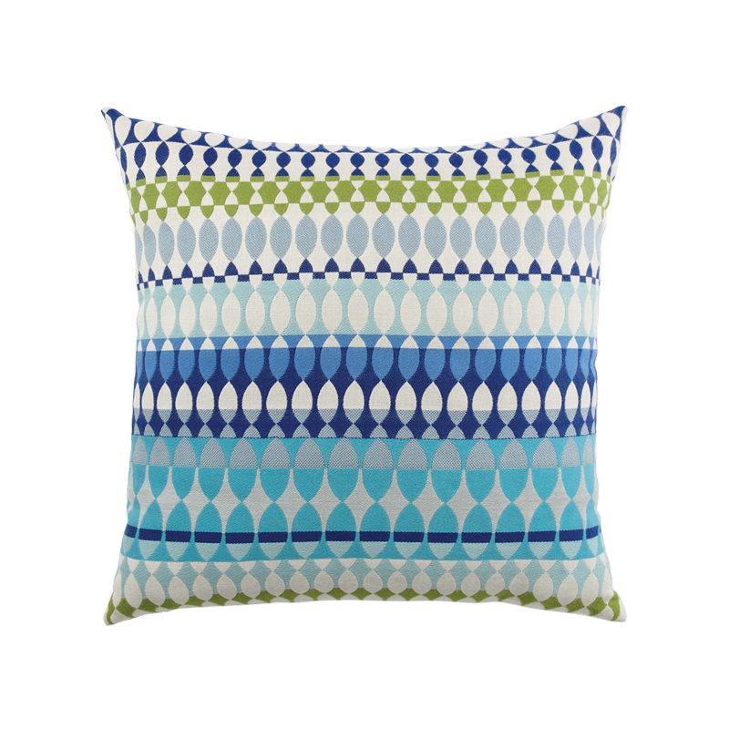 "Elaine Smith Modern Oval Ocean 20"" x 20"" Indoor/Outdoor Pillow"