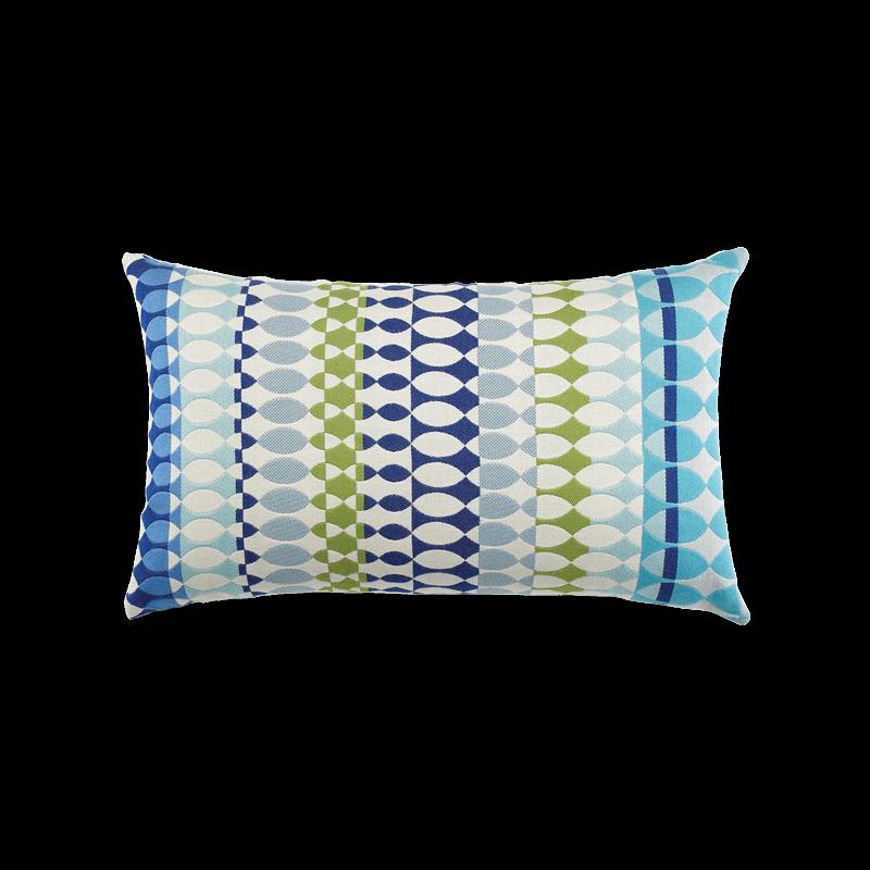 "Elaine Smith Modern Oval Ocean 12"" x 20"" Indoor/Outdoor Lumbar Pillow"