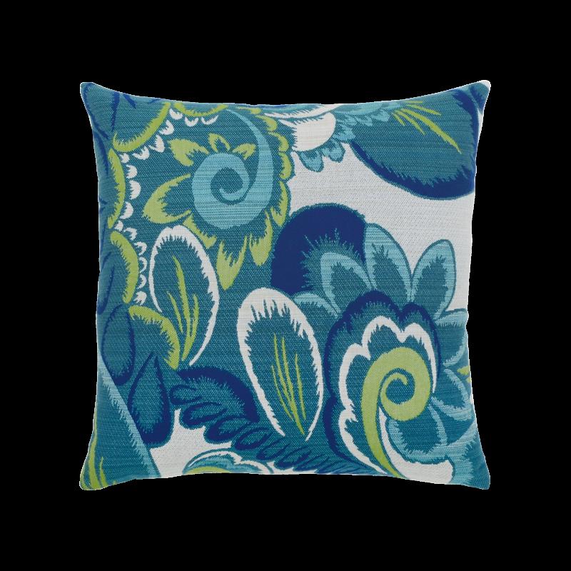 "Elaine Smith Floral Wave 20"" x 20"" Indoor/Outdoor Pillow"