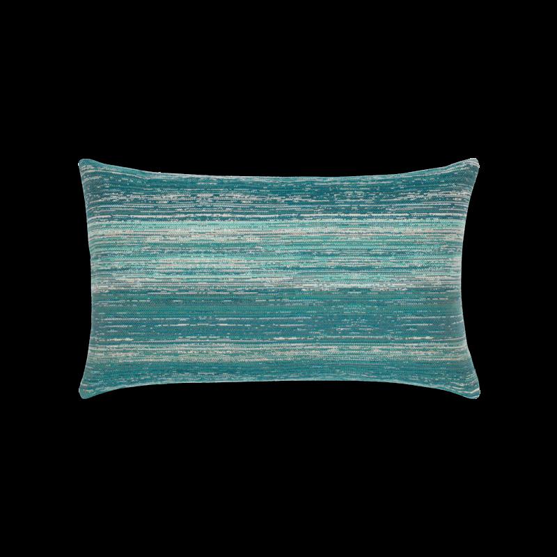 """Elaine Smith Textured Lagoon 12"""" x 20"""" Lumbar Pillow"""