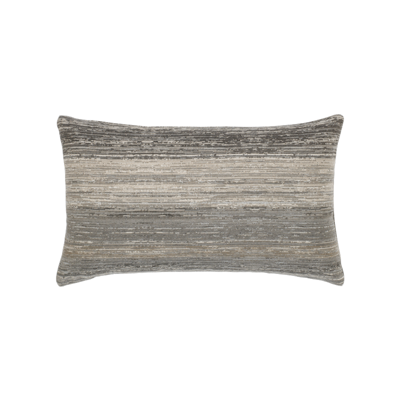 "Elaine Smith Textured Grigio 12"" x 20"" Lumbar Pillow"