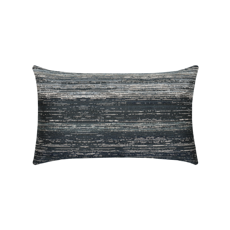 "Elaine Smith Textured Indigo 12"" x 20"" Lumbar Pillow"