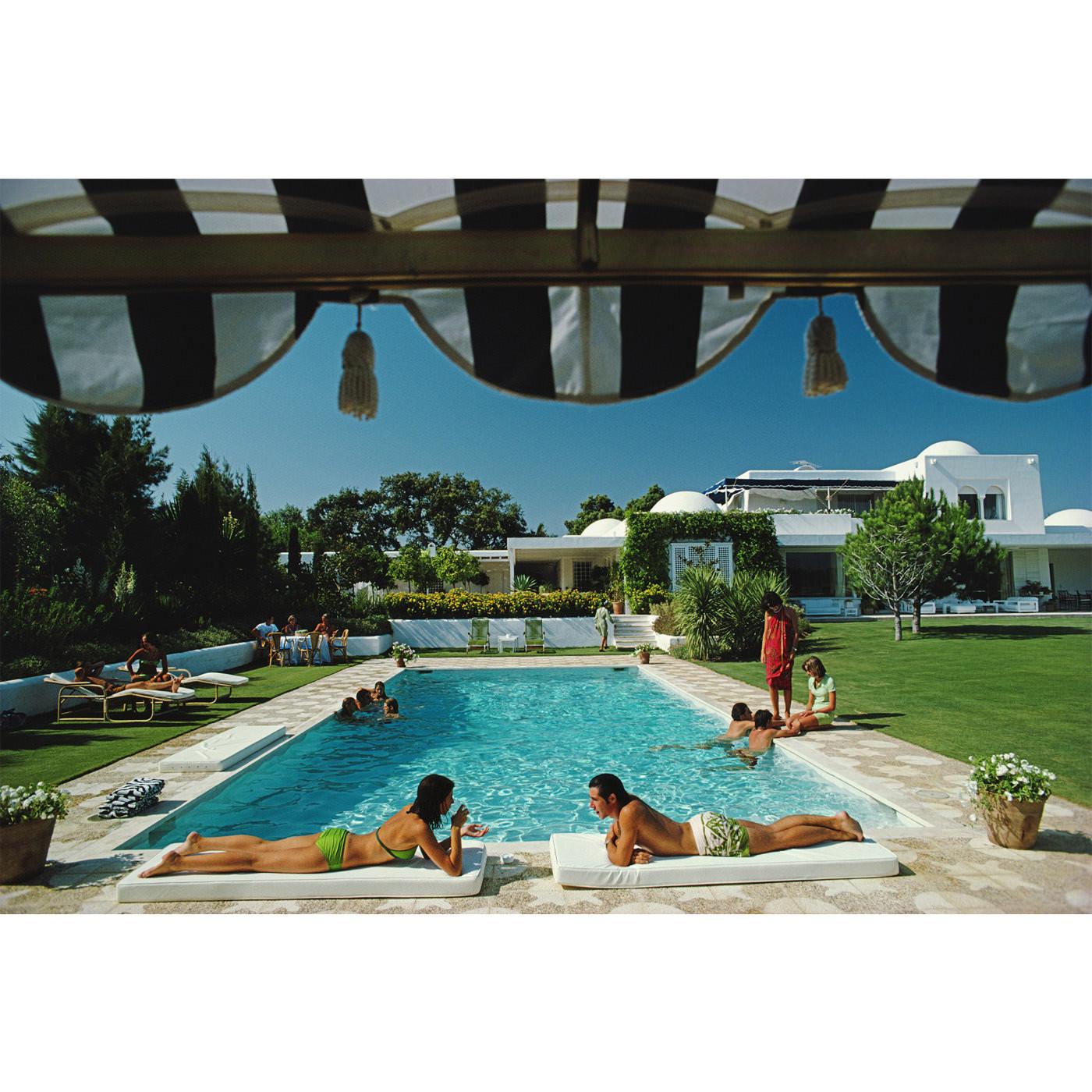 "Slim Aarons ""Poolside Sotogrande"" Wall Art | Jonathan Adler"