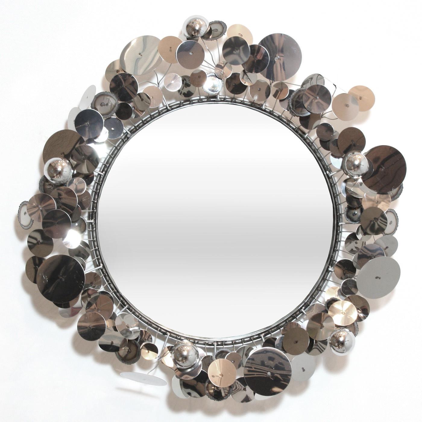 C. Jere Raindrops Sculpture Mirror