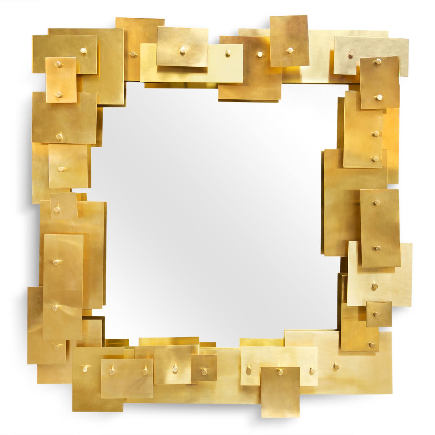 Puzzle Brass Mirror | Jonathan Adler