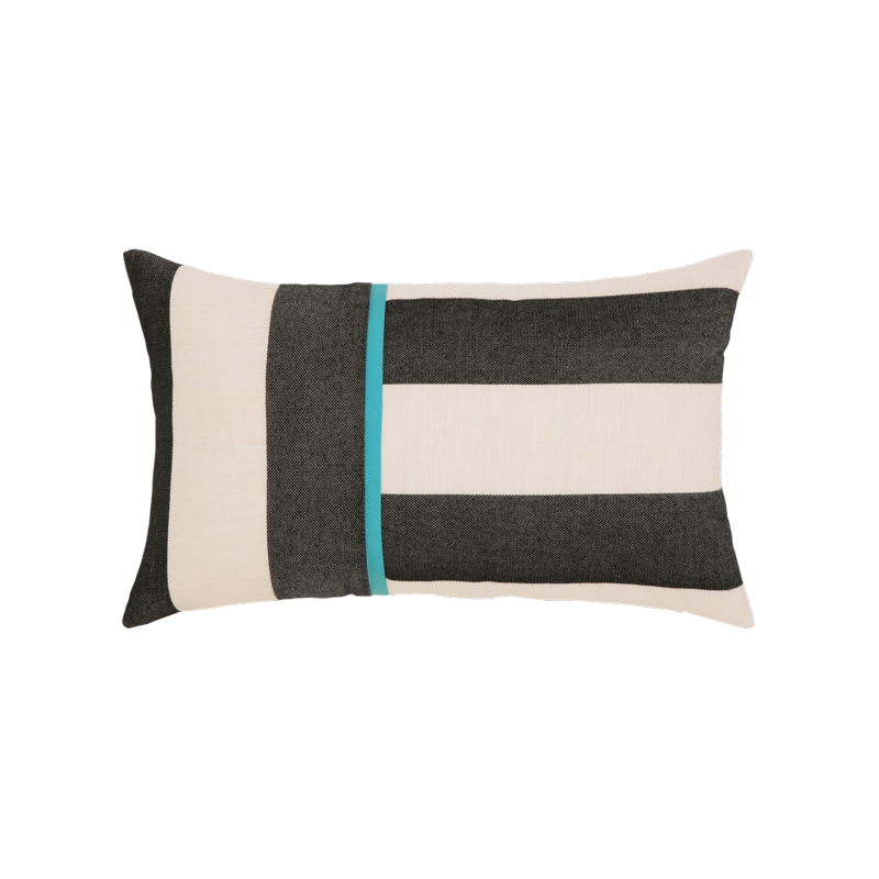 "Elaine Smith Harmony Chevron 12"" x 20"" Indoor/Outdoor Lumbar Pillow"