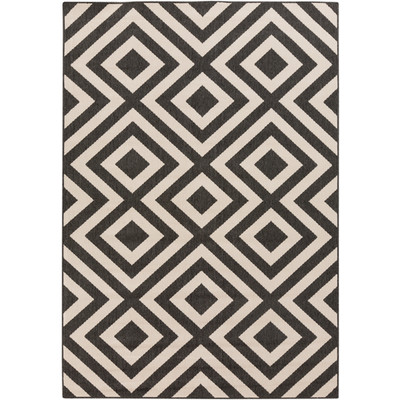 Alfresco Indoor/Outdoor Rug | Black & Cream | 8 Sizes
