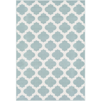 Alfresco Indoor/Outdoor Rug | Aqua & White | 8 Sizes