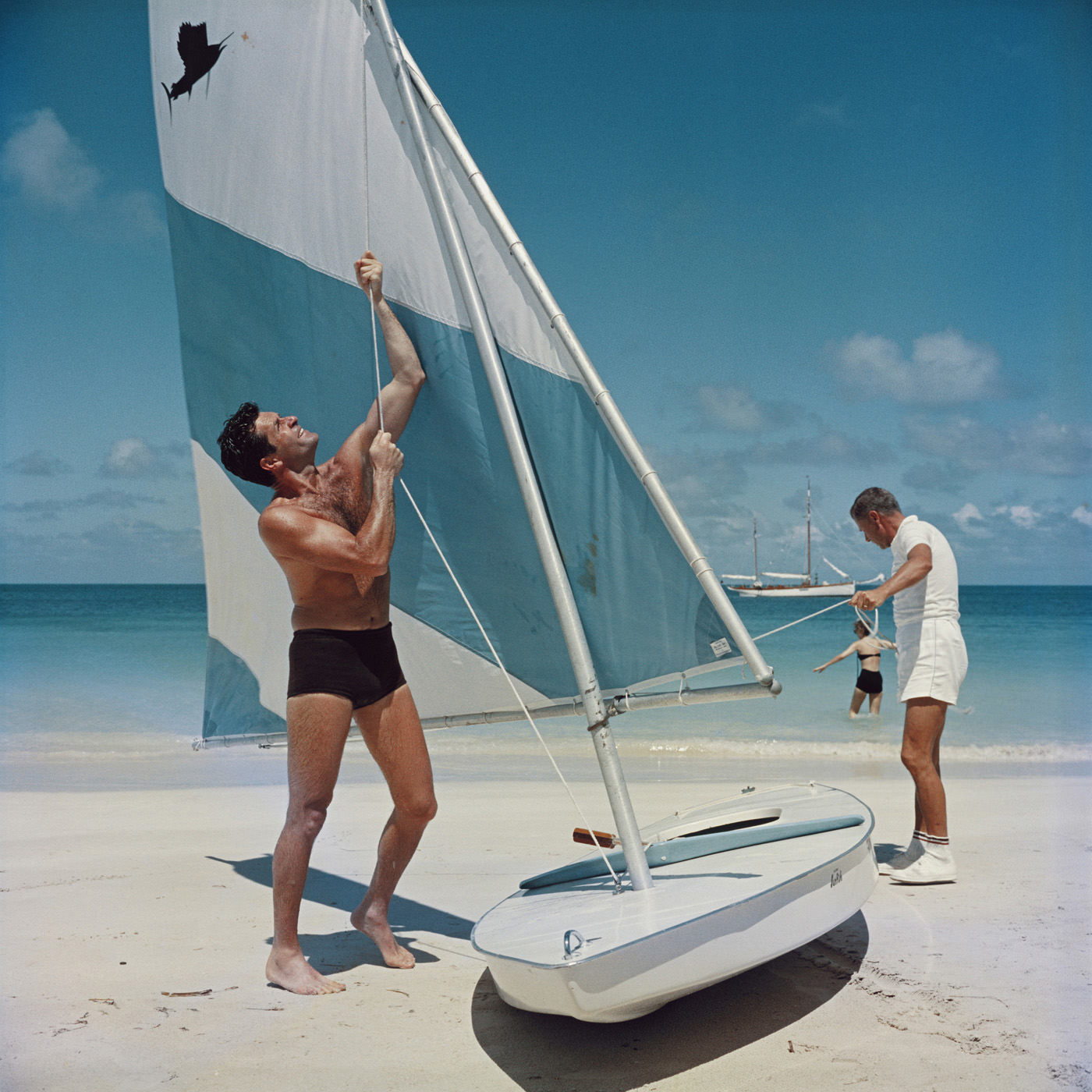 "Slim Aarons ""Boating in Antigua"" Wall Art 