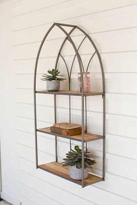 Recycled Wood and Metal  Bookshelf