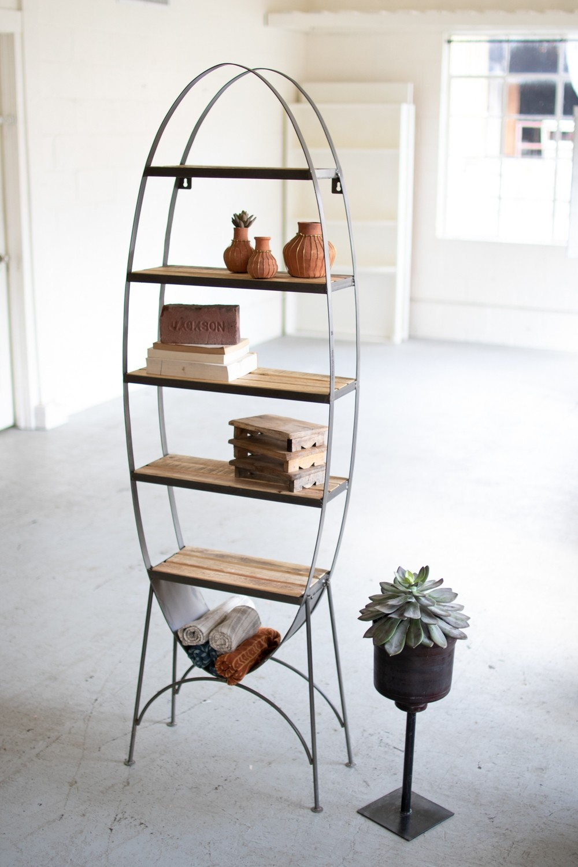 Recycled Wood & Iron Shelf
