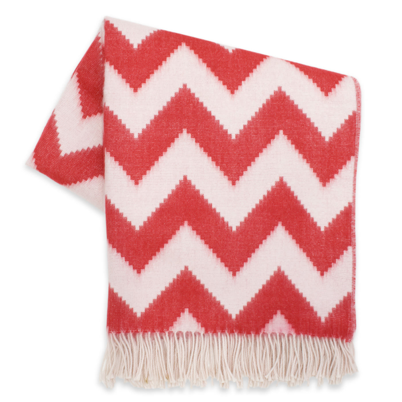 Zig Zag Baby Alpaca Throw | 3 Colors