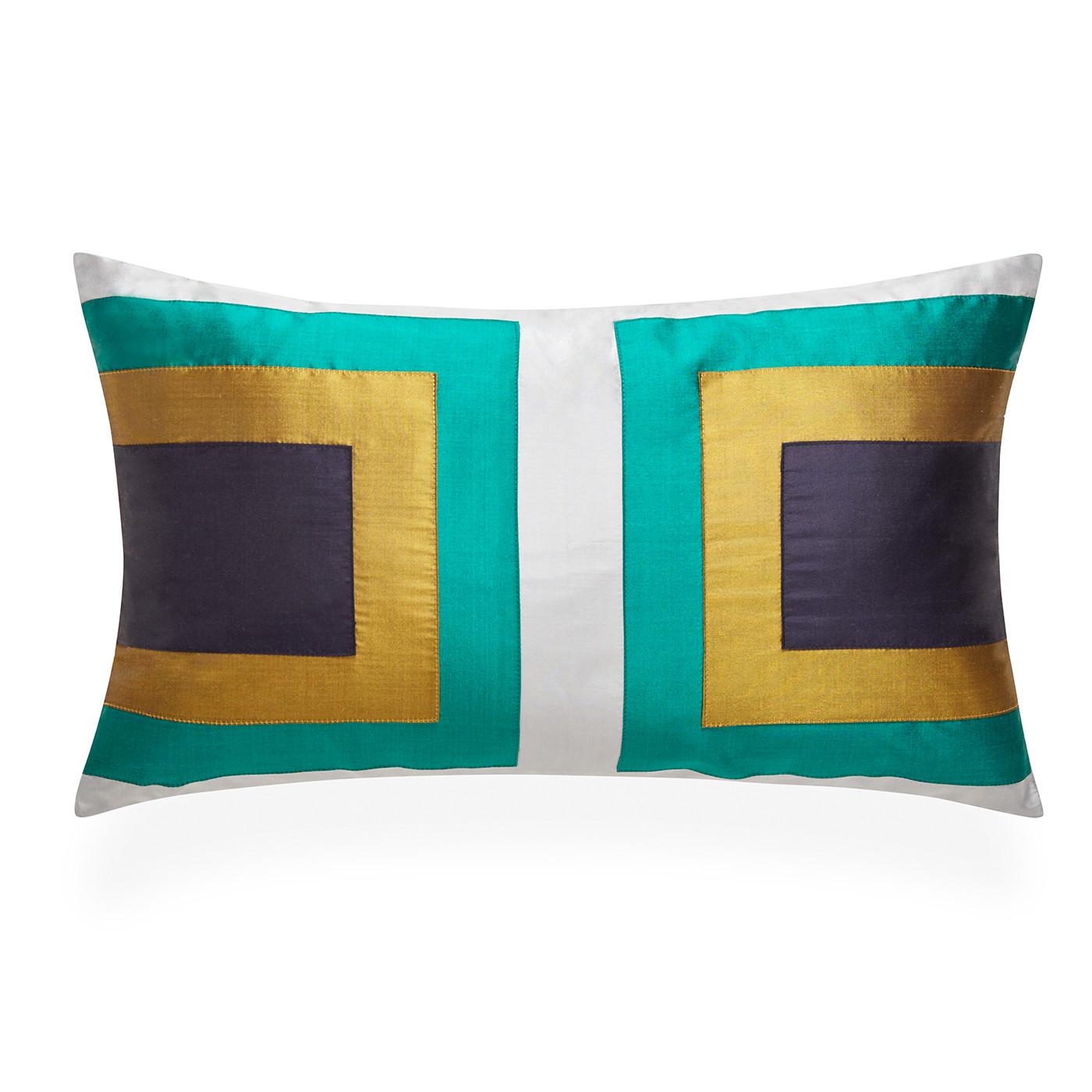 Jonathan Adler Siam Zip Emerald Lumbar Pillow