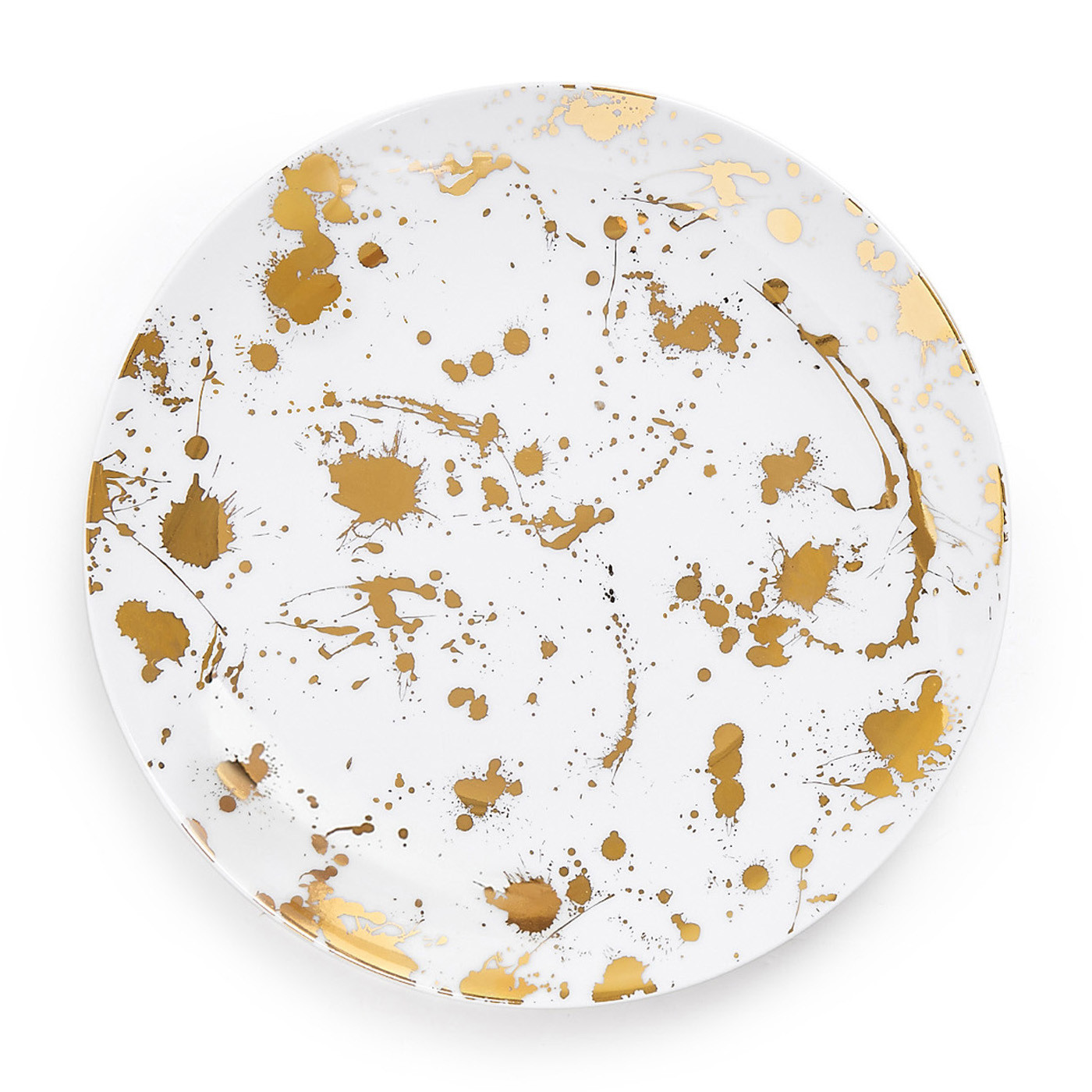 Jonathan Adler 1948 White and Gold Dinner Plate | Set of 8