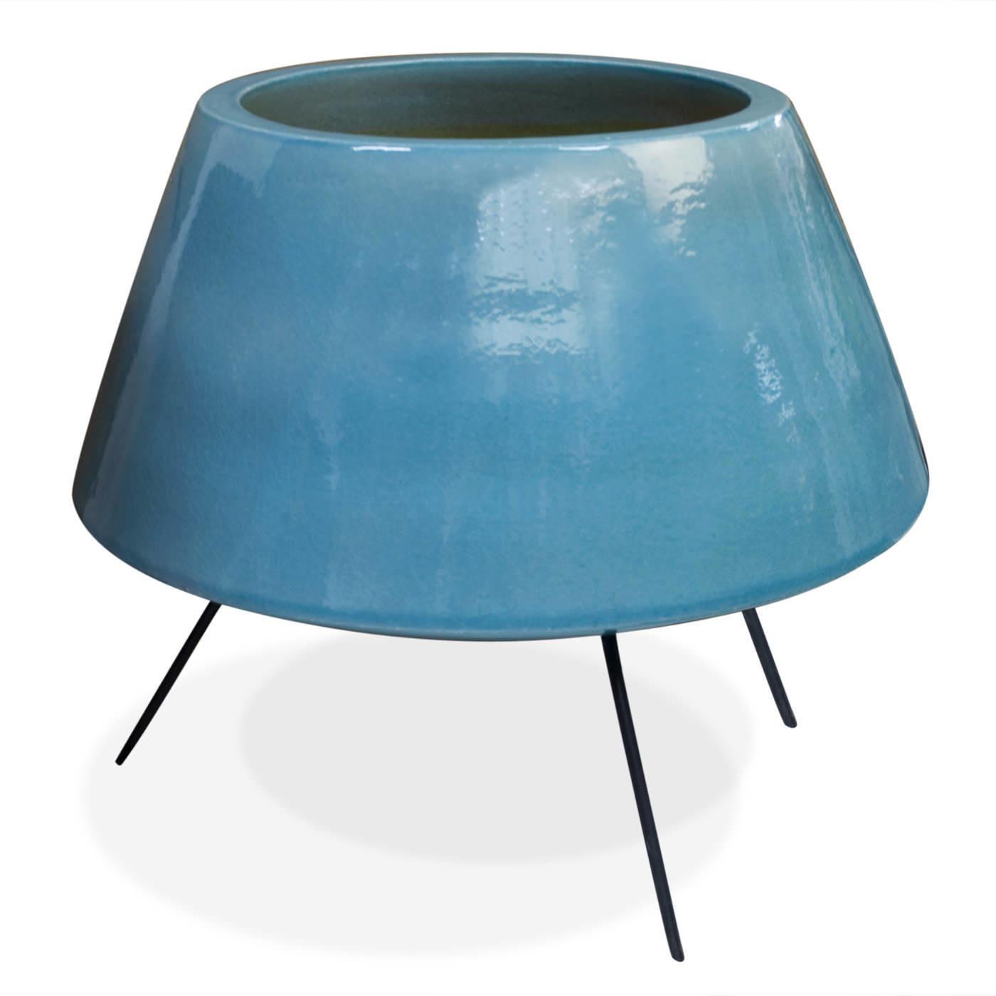 Jonathan Adler Blue Okura Ceramic Planter